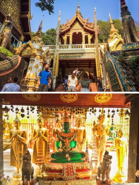 Things to Do in Chiang Mai - See All Four Must-See Temples in Chiang Mai   www.chloestravelogue.com #Thailand #ChiangMai #ThailandInsider #Temples #WatDoiSuthep #DoiSuthep #Buddha #GoldenStupa #EmeraldBuddha #DragonStairs