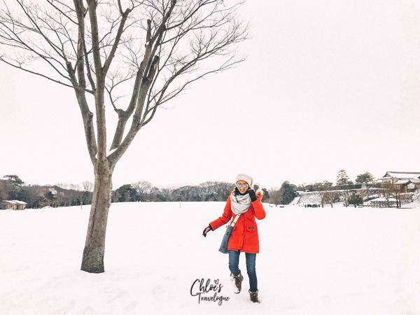 Kanazawa Winter: Enjoy strolling snow-covered Kanazawa Castle. #Kanazawa #Japan #winterinjapan #Kenrokuen #KanazawaCastle | CHLOESTravelogue.com
