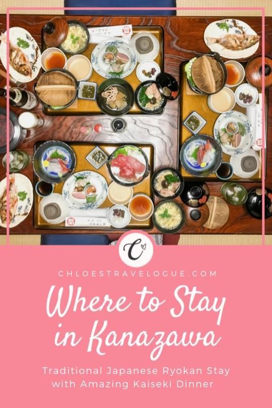 Kanazawa Hotel Review   Enjoy traditional Japanese hospitality and kaiseki ryori made with local and seasonal specialities at traditional ryokan   #Kanazawa #KanazawaRyokan #JapaneseRyokan #Ryokan #Kaiseki #JapaneseCuisine   chloestravelogue.com