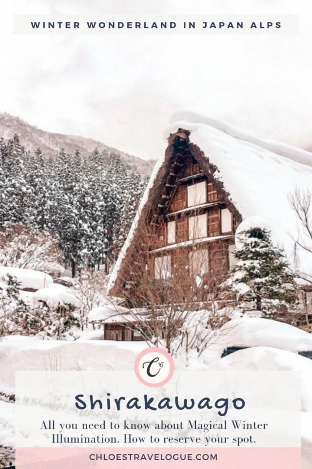 Magical Winter Wonderland in Japanese Alps: Shirakawago Winter Light Up 2019 | What to Do & Where to Stay in Shirakawago | How to get to Shirakawago | Alternative Winter Illumination | #Shirakawago #Winter #Japan #Gassho #UNESCOWorldHeritage | chloestravelogue.com