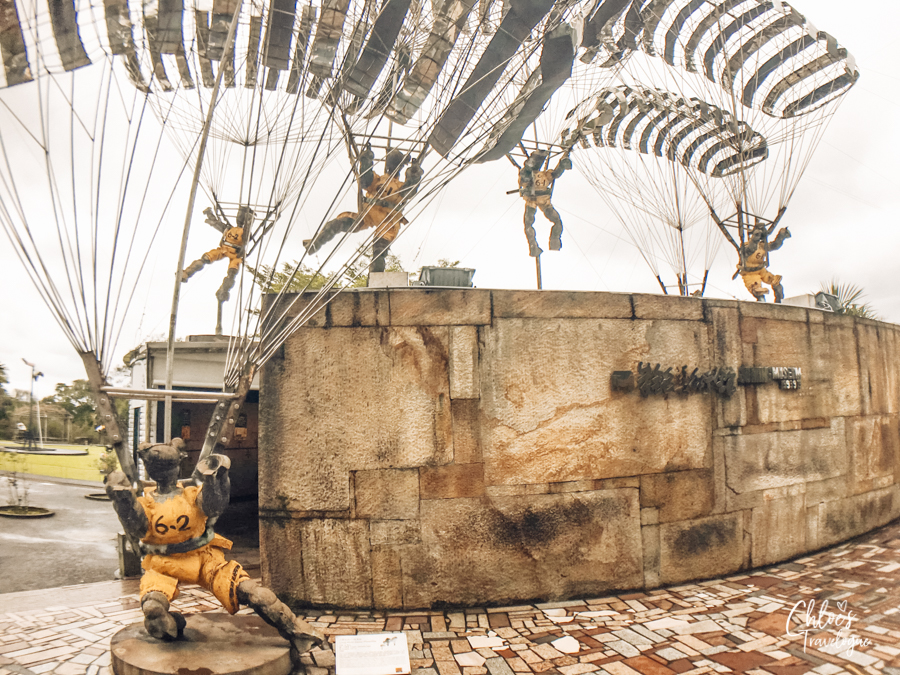 Day trip from Taipei - Juming Museum | Ju Ming Sculpture - Living World Series - Parachutes | #Taipei #TaipeiDayTrips #Juming #JumingMuseum #Taiwan #Sculpture
