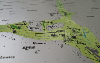 lotnicza mapa zdrapka