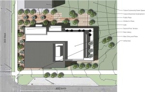 Library site plan