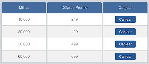 Canje de dólares premio en Delta