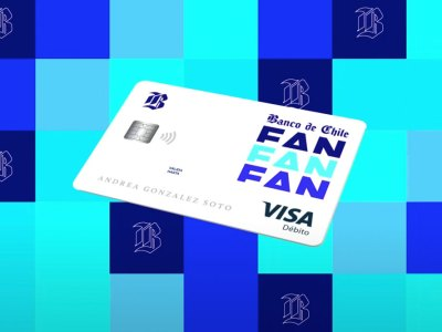 La tarjeta de débito de Cuenta FAN de Banco de Chile