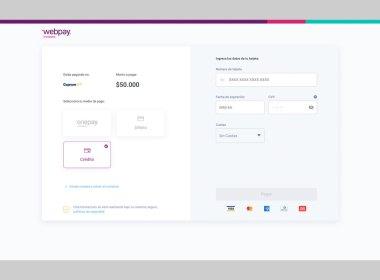La nueva interfaz de diseño de Webpay de Transbank