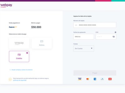La nueva interfaz de Webpay