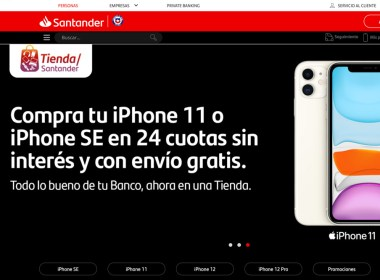 Tienda Santander de Banco Santander Chile