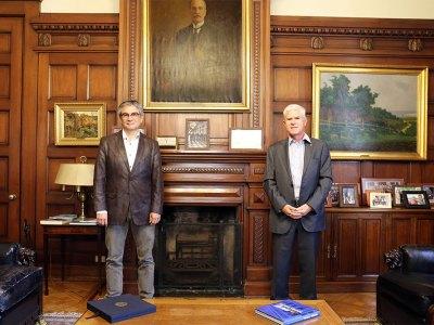 Mario Marcel y Ricardo de Tezanos Pinto