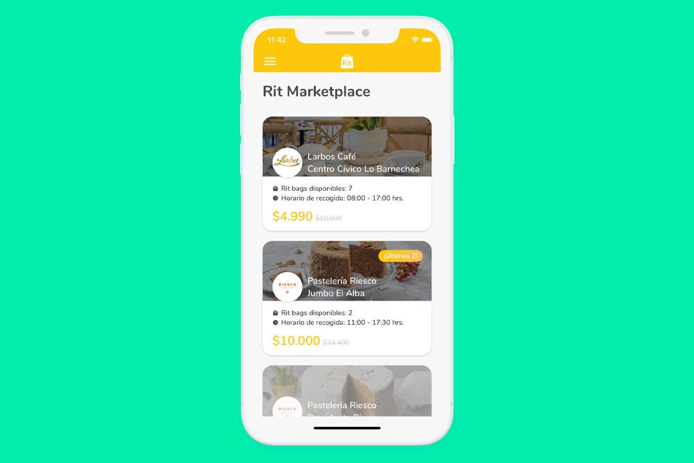 """En la app Rit se pueden encontrar todos los lugares donde hay """"Rit bags"""" disponibles."""