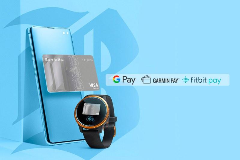 Google Pay, Fitbit Pay y Garmin Pay para tarjetas del Banco de Chile