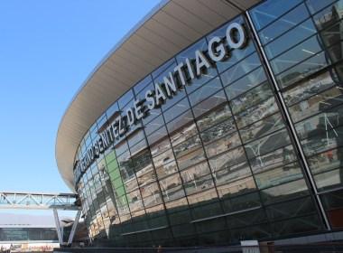 Fachada aeropuerto de Santiago