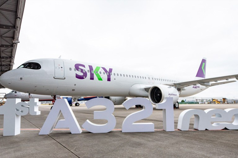 El Airbus A321neo de SKY (Foto: Airbus)
