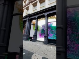 Vitrina Zara 3D Soho Nueva York