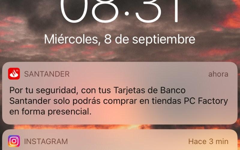 PC Factory y Banco Santander