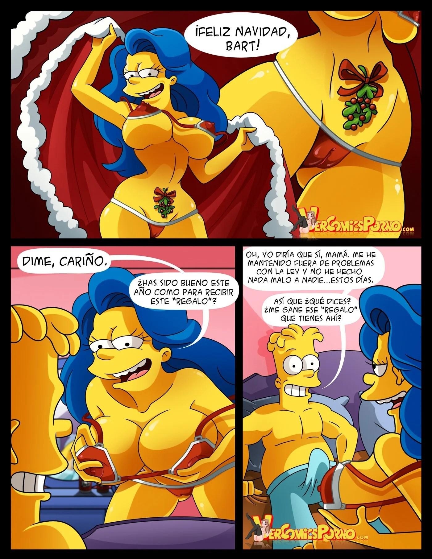 Blanca y Lechosa Navidad Simpsons 04
