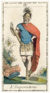 皇帝のタロットカード