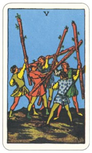 ワンド5,タロットカード