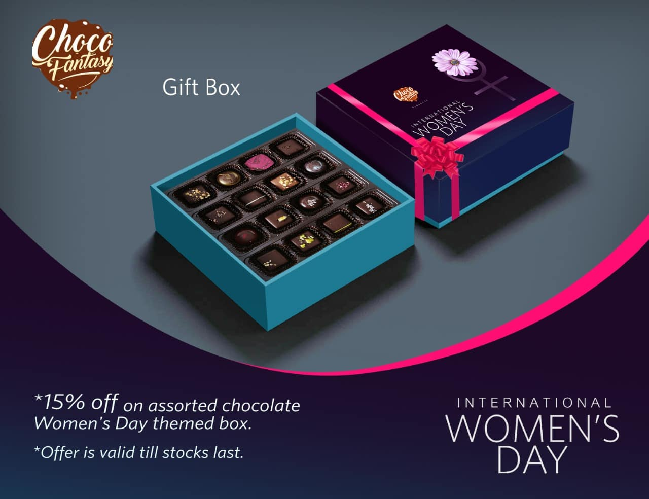 handmade chocolate gifts for womens day kolkata