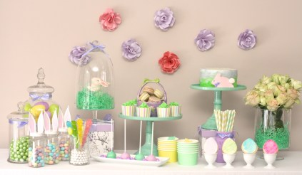 Lavender and Mint Sweet Table