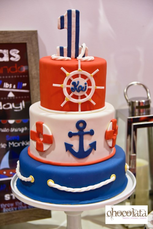 nautical sweet table, blue and red sweet table, sweet table montreal