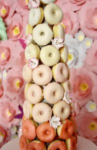 donut tower, sweet table