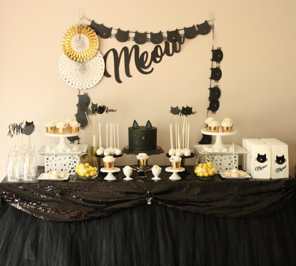 Sophisti'CAT'ed Glam Birthday Sweet Table