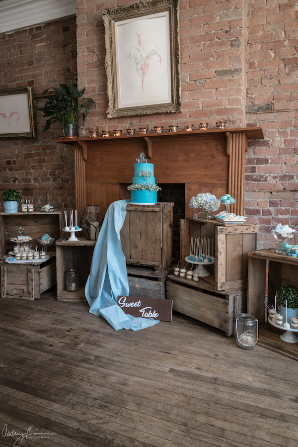 (English) Baby Blue Rustic Baby Shower