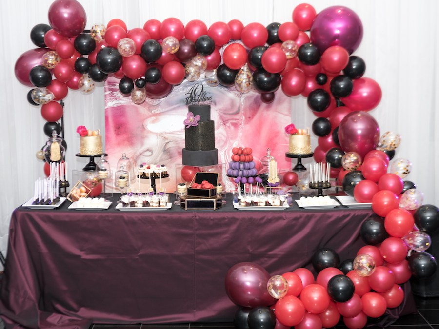 [:en]Black Red Purple sweet table [:]