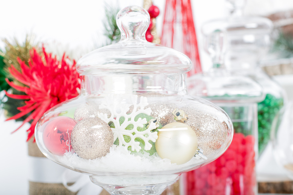 Christmas ornaments, Christmas desserts, holiday dessert table