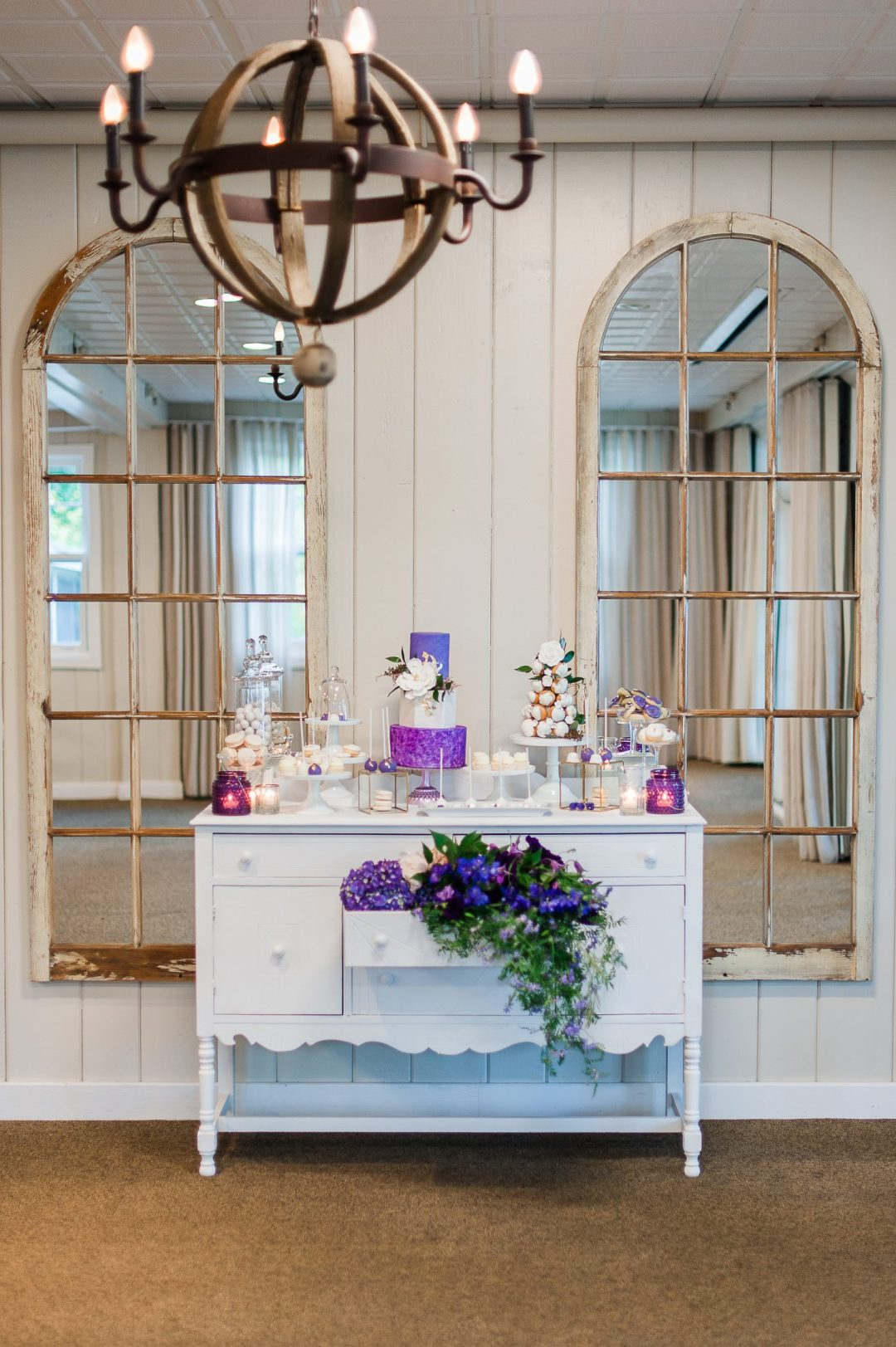 lavender sweet table
