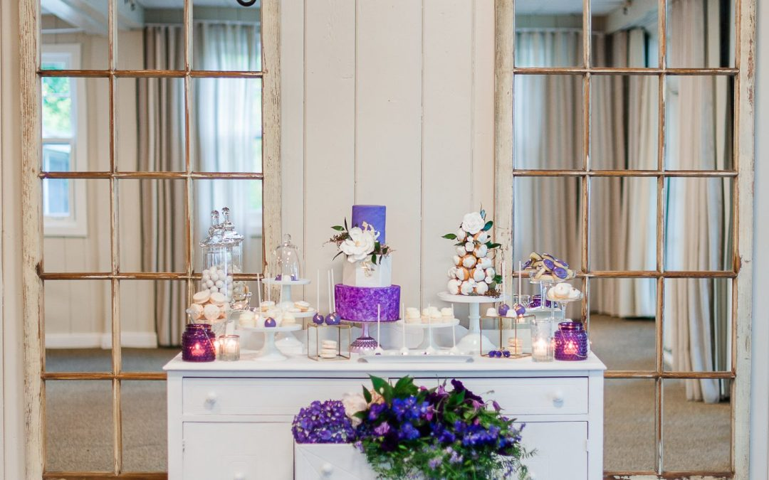 Purple Theme Wedding Sweet Table
