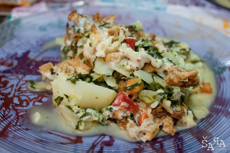 Gratinado de peixe com legumes