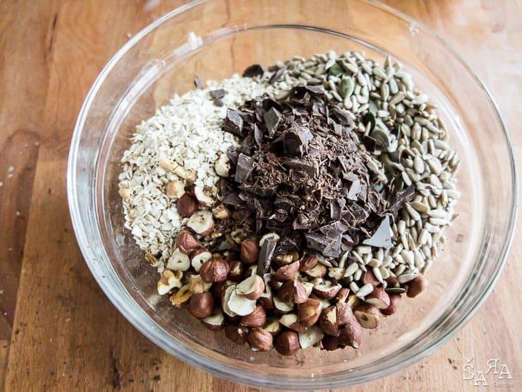 Barras de cereais caseiras e saudáveis