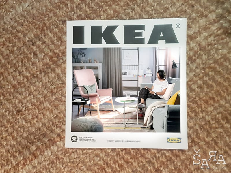 O novo catalogo do Ikea tem chocolate a mais na capa