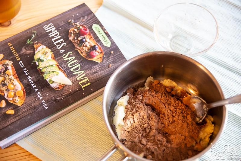 Trufas de chocolate e Biomassa de Banana verde apenas com 4 ingredientes