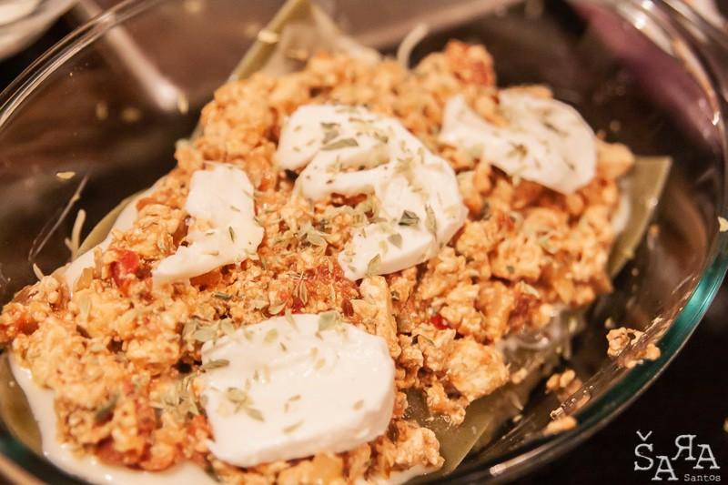 Preparação da Lasanha de tofu
