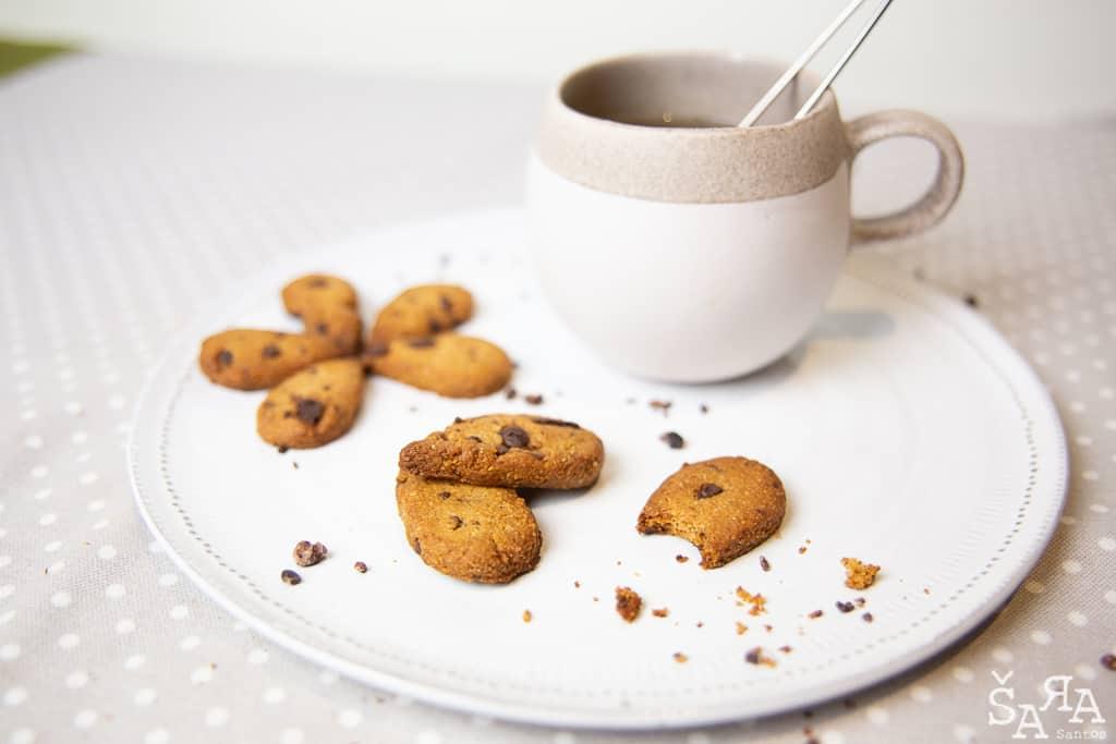 Bolachas de amêndoa com chocolate