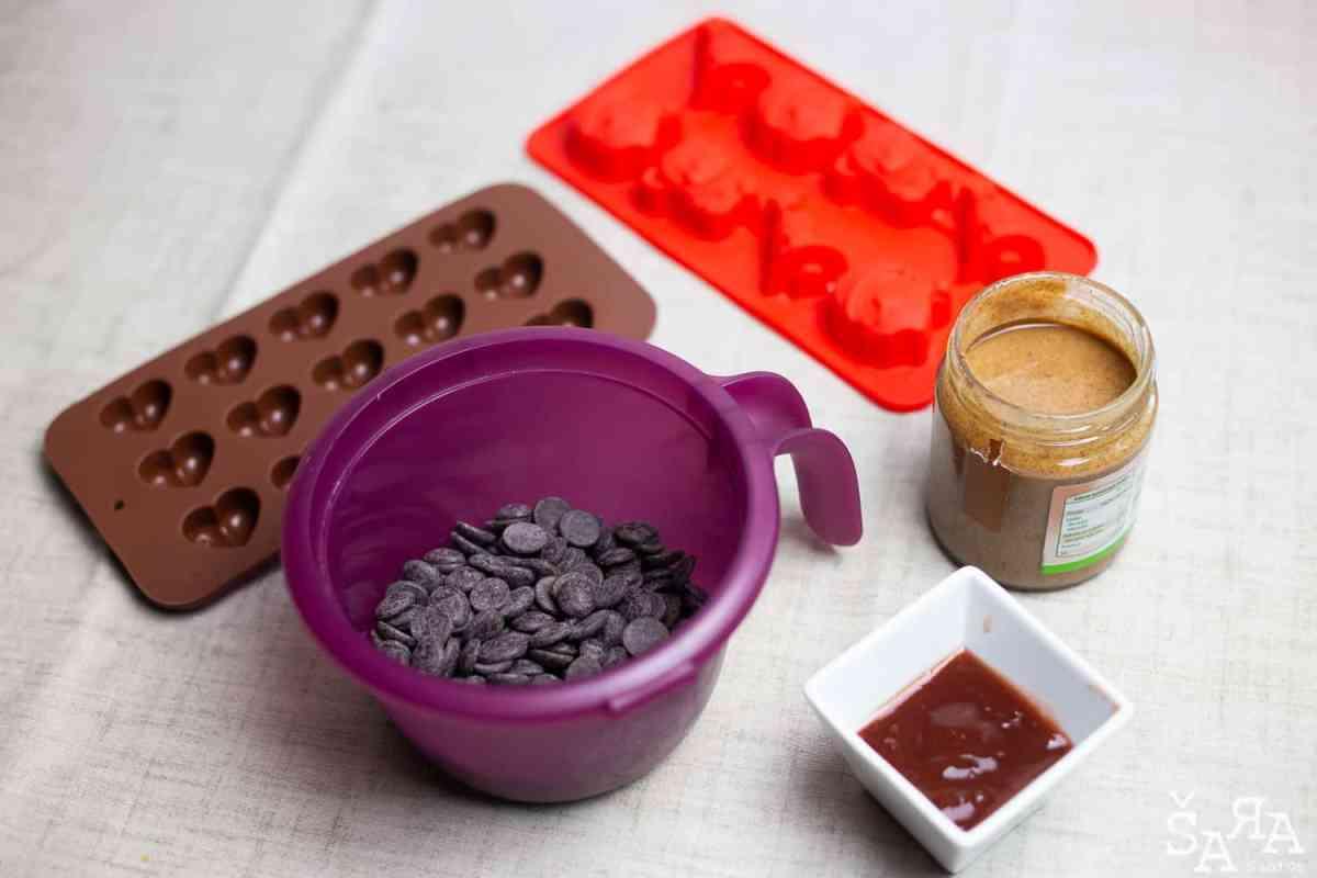 Ingredientes para os bombons
