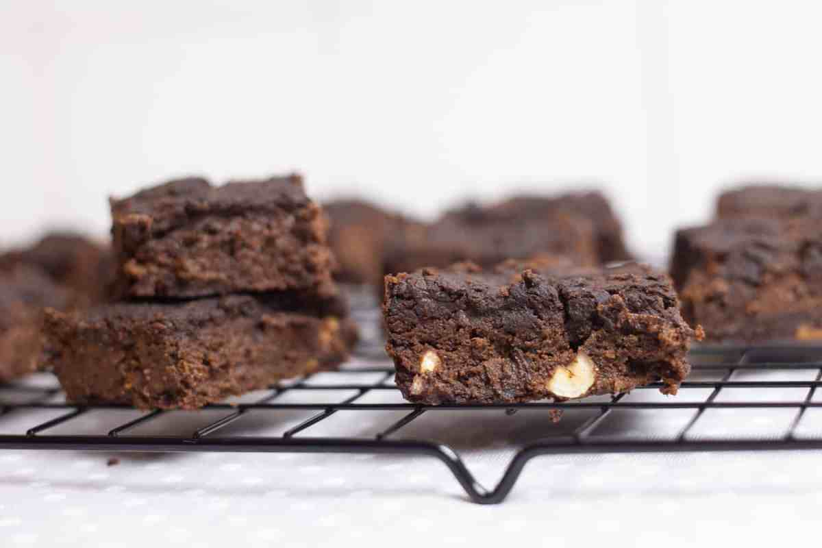 Brownies proteicos de chocolate