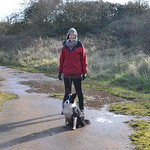 Al and Beau on first walk