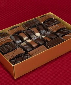 an extra-large double-layer 48-piece sweet escape chocolate praline and gel combination