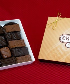 a large 20-piece caramel caper chocolate praline and caramel combination