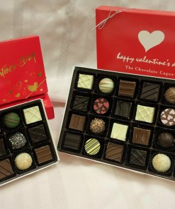 Two Valentine's Chocolate Assortments side-by-side