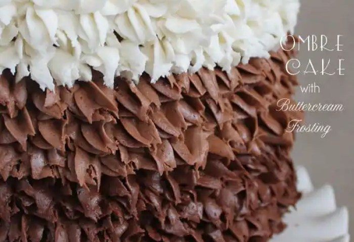 Ombre Cake With Buttercream Frosting Chocolate Chocolate And More