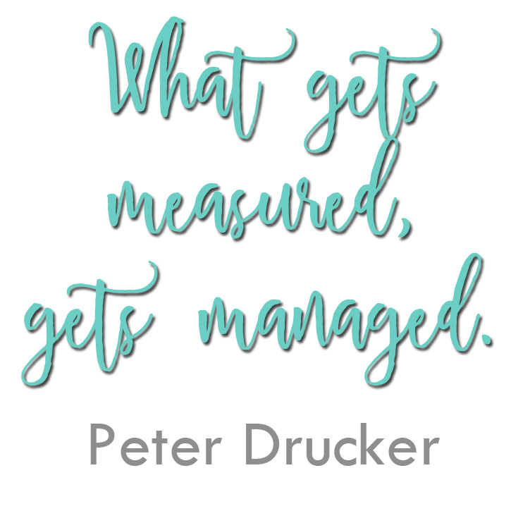 What gets measured, gets managed - Peter Drucker