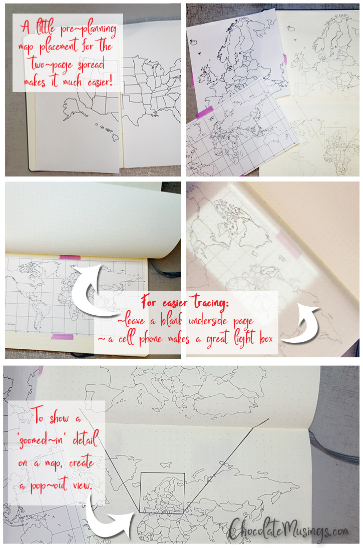 Map creation steps for the bullet journal