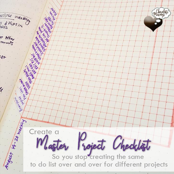 Master Project Checklist