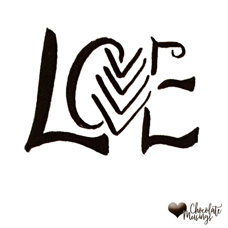 Love, arrow, chevron pattern