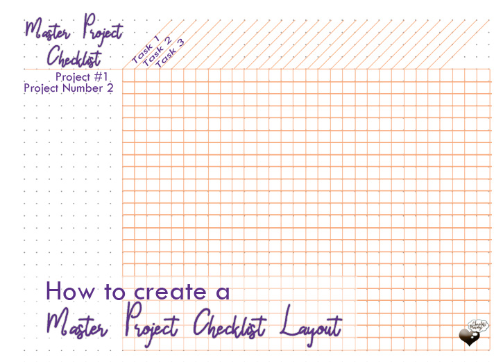 How to create a master project checklist